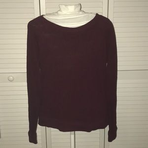 Ann Taylor Loft light weight maroon sweater